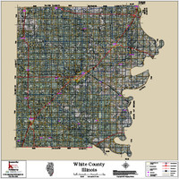 White County Illinois 2018 Aerial Wall Map