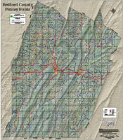 Bedford County Pennsylvania 2018 Aerial Wall Map