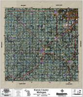 Eaton County Michigan 2018 Aerial Wall Map