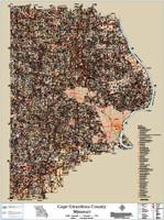 Cape Girardeau County Missouri 2015 Soils Wall Map