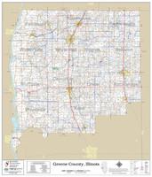 Greene County Illinois 2018 Wall Map
