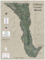 Calhoun County Illinois 2018 Aerial Wall Map