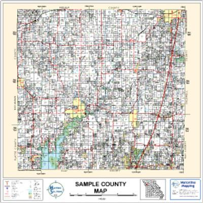 Osage County Oklahoma 2002 Wall Map