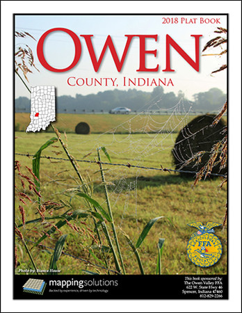 Owen County Indiana 2018 Plat Book