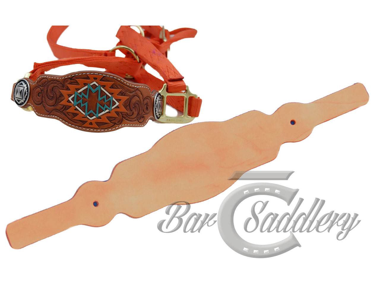 Leather horse halter nose band tack blank fancy straight round nose band leather tack blank maxwellsz