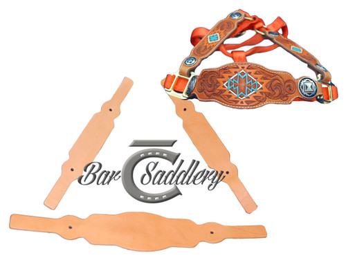 Leather horse halter nose band tack blank premium vegetable tanned domestic steer hide tooling leather horse halter tack blanks nose band and cheeks maxwellsz