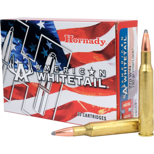 Hornady American Whitetail Ammunition 130 Grain
