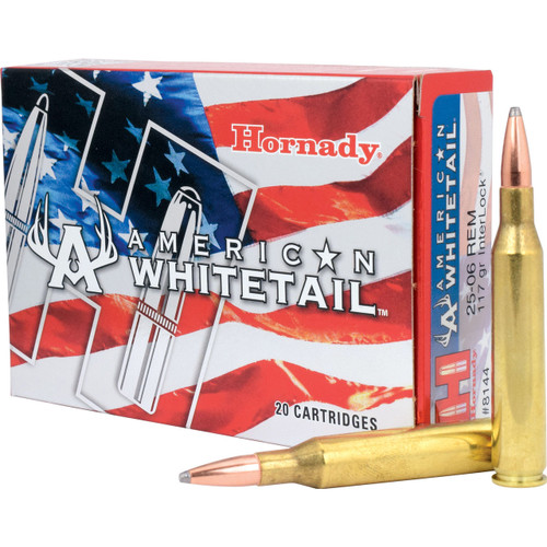Hornady American Whitetail 25-06 117 Grain Ammunition
