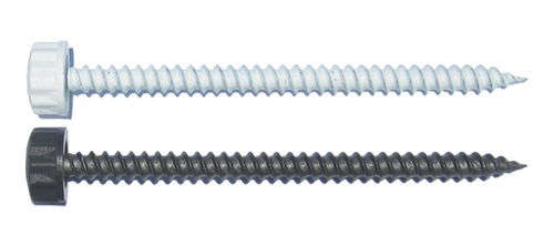 "50/Pack Nylon Head 10 x 3"" Sheet Metal Screw - Choice Of Finish"