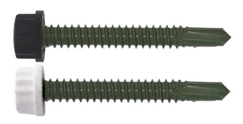 "100/Pack Nylon Head 16 x 2"" Self Drilling Screw - Choice Of Finish"