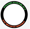 TIRE STICKERS - 8 permanent tire decals w/ tire cleaner combo pack