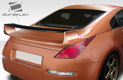 2003-2008 Nissan 350Z 2DR Coupe Duraflex Vader 3 Rear Wing Trunk Lid Spoiler - 1 Piece