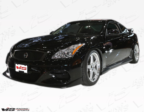 2008-2013 Infiniti G37 2dr Zelda Side Skirt. All Vis fiberglass Body Kits; bumpers, Lips side skirts, spoilers, and hoods are made out of a high quality fiberglass. All Body Kits come with wire mesh if applicable. Professional installation required. Picture shown is for illustration purpose only. Actual product may vary due to product enhancement. Modification of part is required to ensure proper fitment. Test fit all Body Kit parts before any modification or painting. Accessories like fog lights, driving lights, splitter, canards, add-on lip, intake scoops, or other enhancement products are not included unless specified in the product description. Intended for OFF ROAD use only.