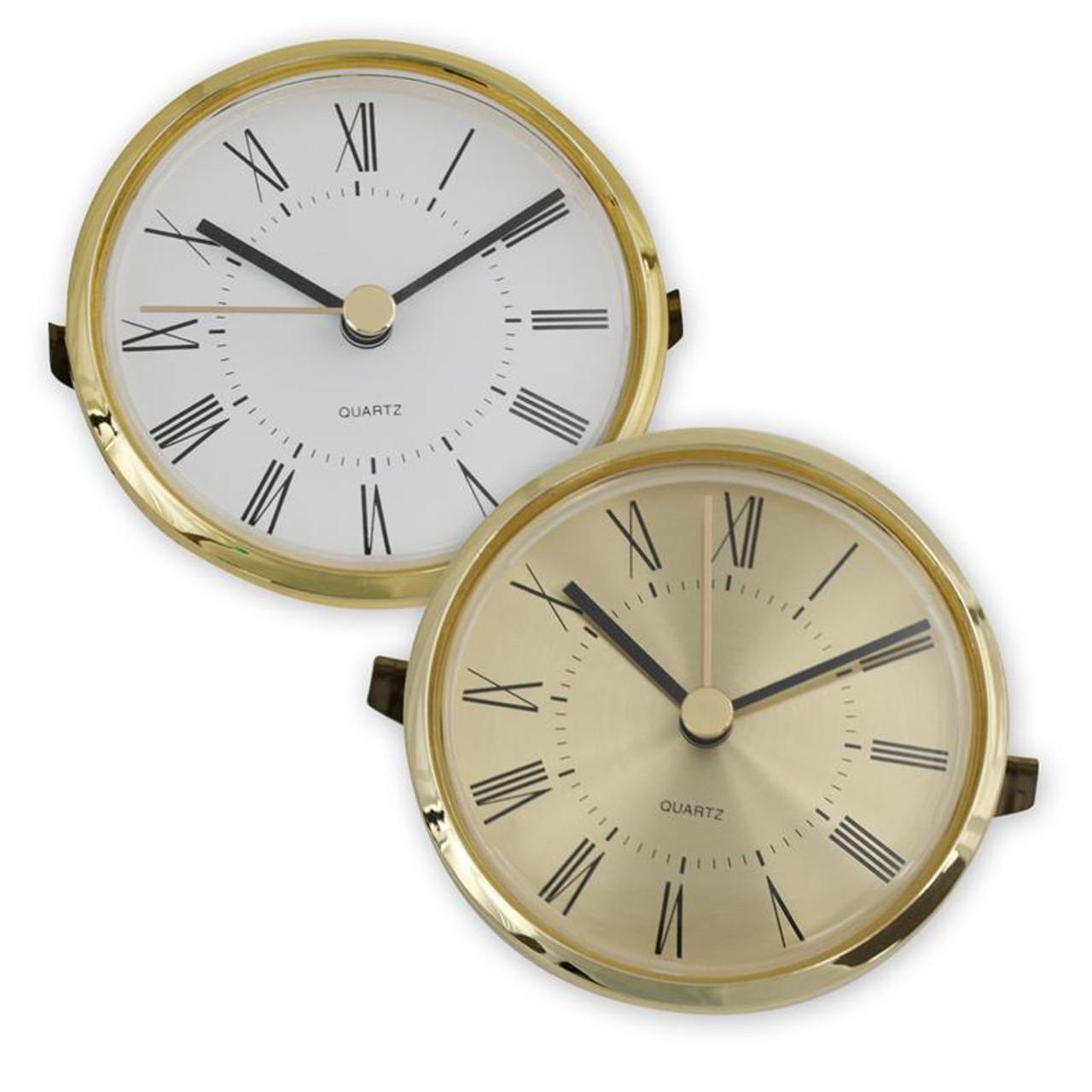 Roman Numeral Gold Bezel Clock Movement Insert - 3-roman-numerals-clocks