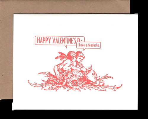 Headache Valentines Day
