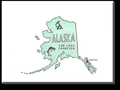 Alaska State Print: The Last Frontier