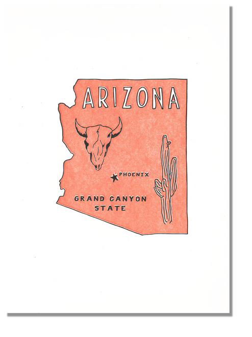 Arizona State Print: The Grand Canyon State