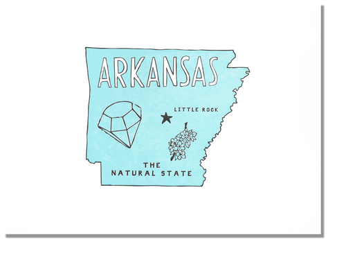 Arkansas State Print: The Natural State