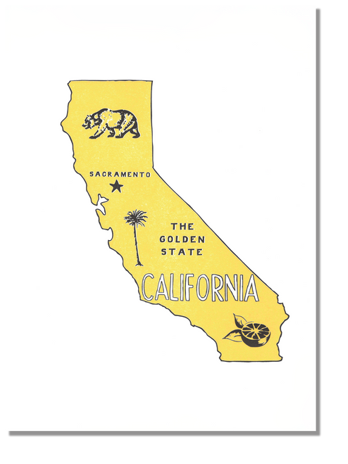 California State Print: The Golden State