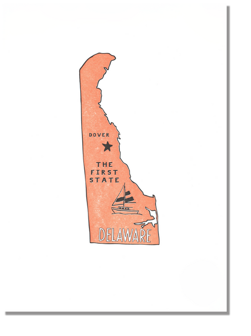Delaware State Print: The First State