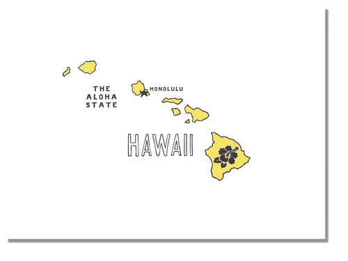 Hawaii State Print: The Aloha State