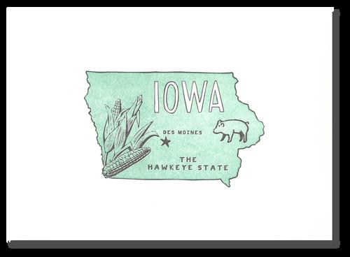 Iowa State Print: The Hawkeye State