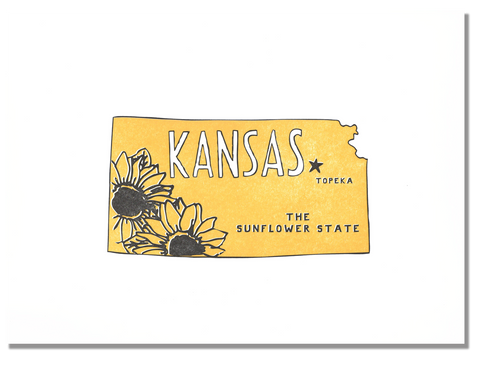Kansas State Print: The Sunflower State