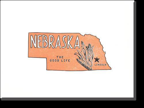 Nebraska State Print: The Good Life