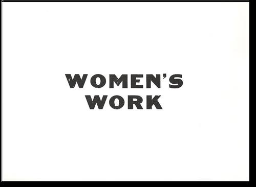 Women's Work Poster