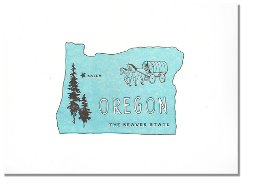 Oregon State Print: The Beaver State