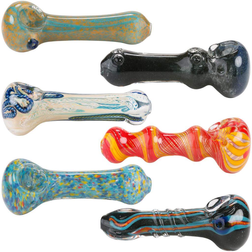 "4.5"" Assorted Bulk Glass Hand Pipes"