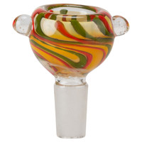 Glass-On-Glass Bowl   14mm Colored