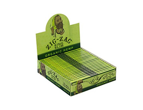 Zig Zag Organic Hemp King Size Rolling Papers | 24 Packs per Box