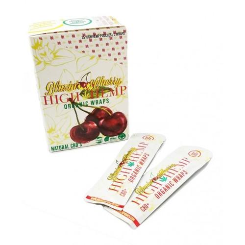 High Hemp Wraps Organic BLAZIN CHERRY | 25 Pouches per Box | 2 Wraps per Pouch