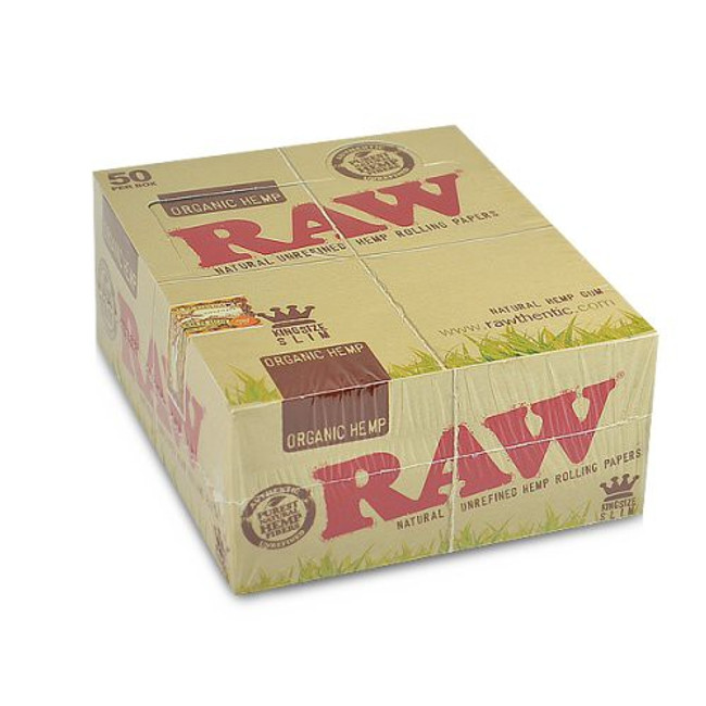 RAW Hemp King Size Slim | 50 pk | Retail Display
