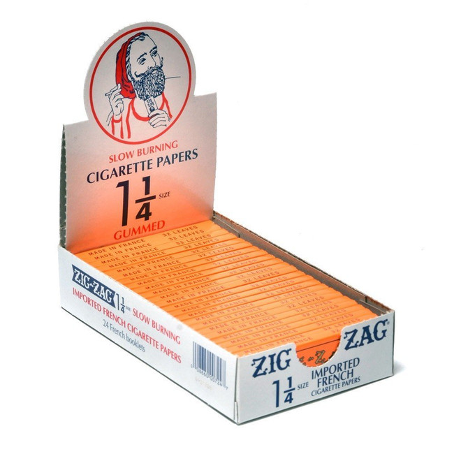 Zig Zag Orange 1 1/4 Size | 24 pk | Retail Display