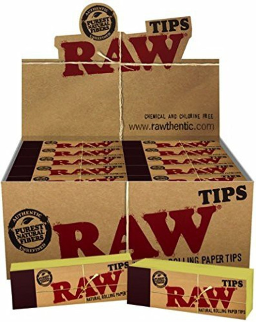 RAW HEMP & COTTON PERFORATED TIPS | 50 pk of 50 Tips | Retail Display