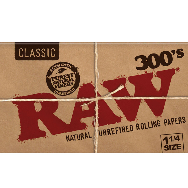 RAW Natural 300 Papers | 20 pk | Retail Display