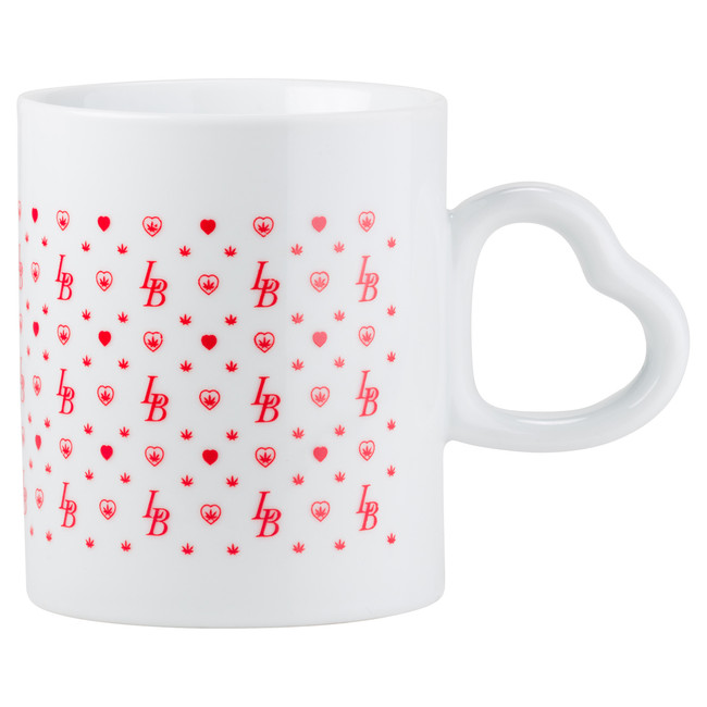 Coffee Mug | Heart Handle LuvBuds Pattern