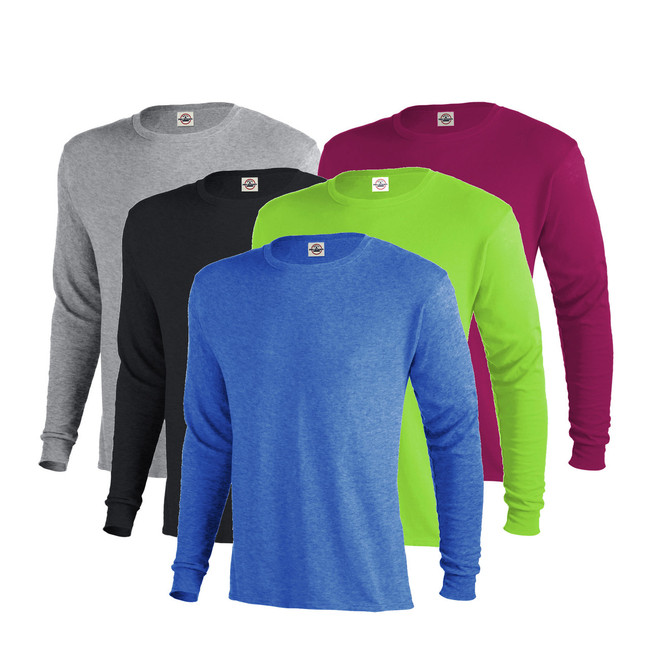 Custom Mens Long Sleeve Crew | Delta 100% Cotton