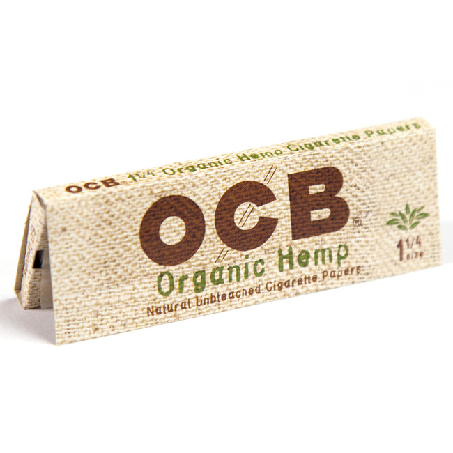 OCB Organic Hemp 1 1/4 Size | 25 pk | Retail Display