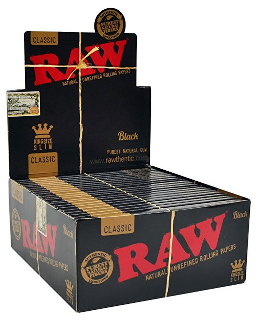 RAW Black King Size Slim | 50 pk | Retail Display