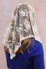 Ivory Triangle Chantilly Lace Mantilla