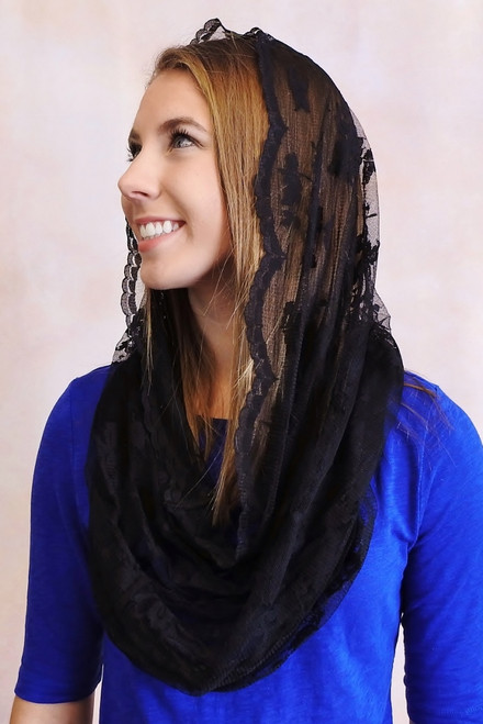 Original Infinity Scarf Mantilla in Black