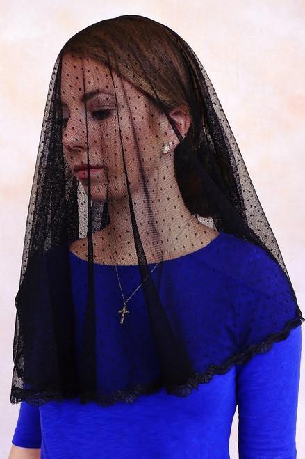 Dot Tulle Mourning Veil