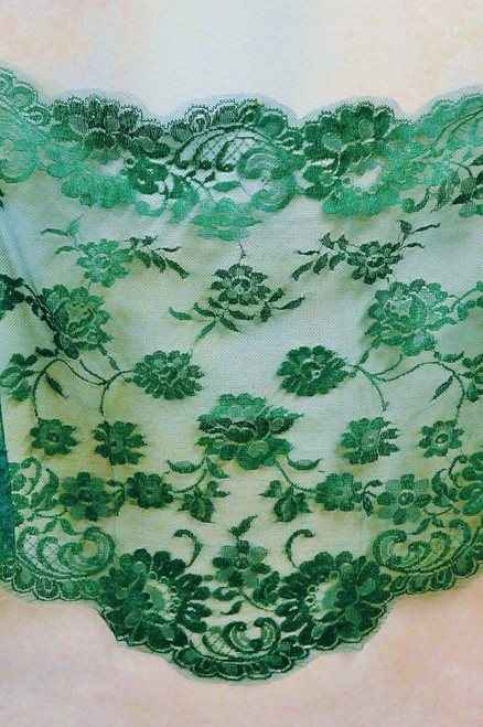 French Rose Mantillas in Emerald Green