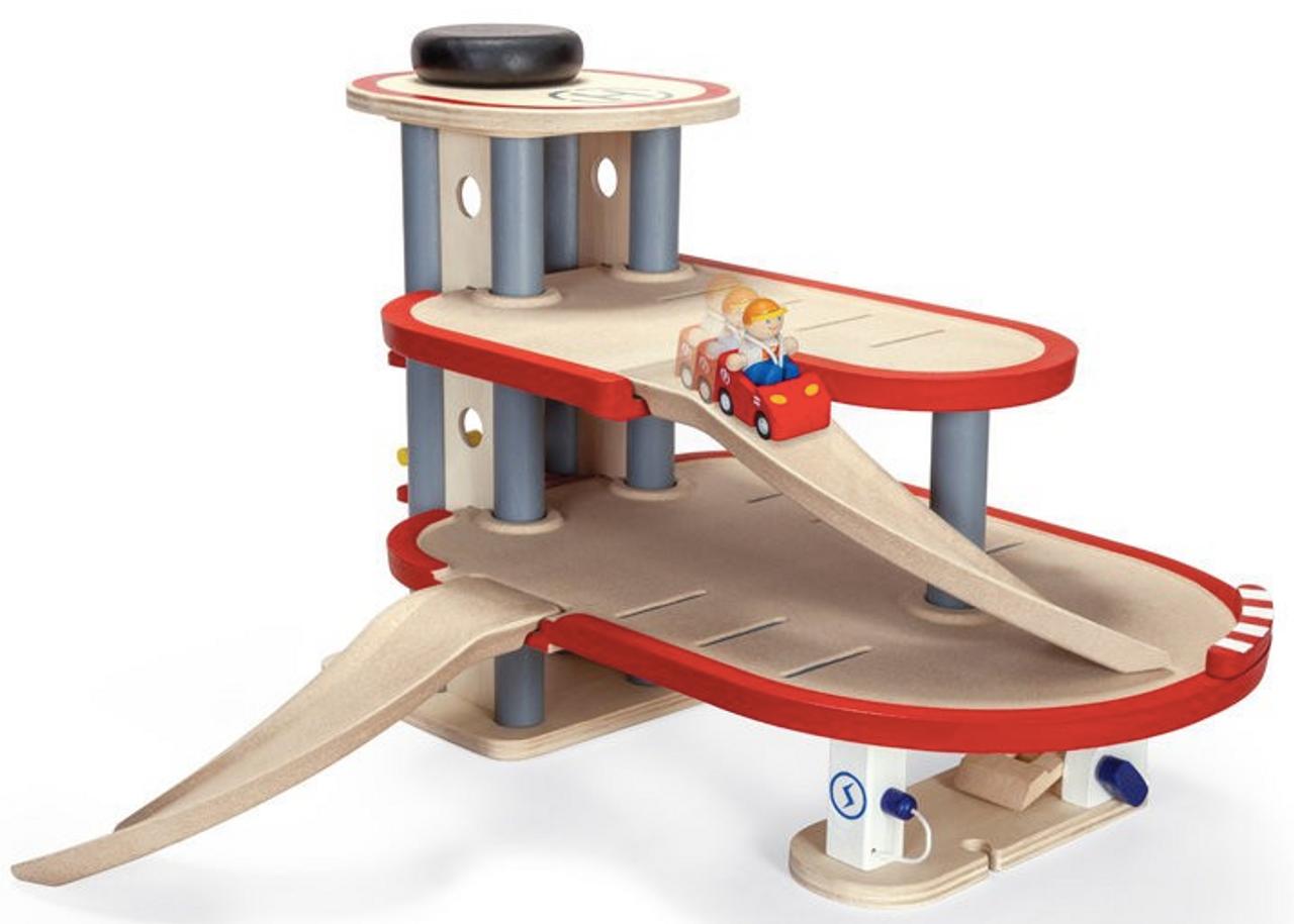 Plan Toys Garage : Plan toys parking garage purple turtle toys online australia