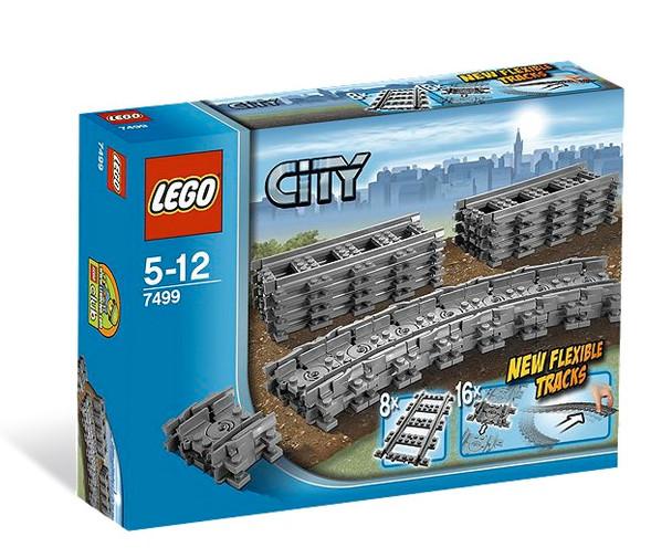 Lego City Flexible and Straight Train Tracks 7499