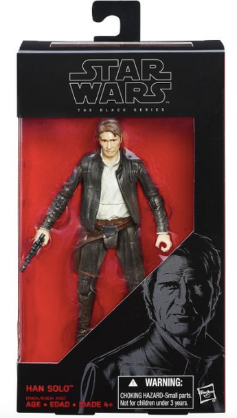 Star Wars Episode VII Black Series Han Solo by Hasbro- Reduced!