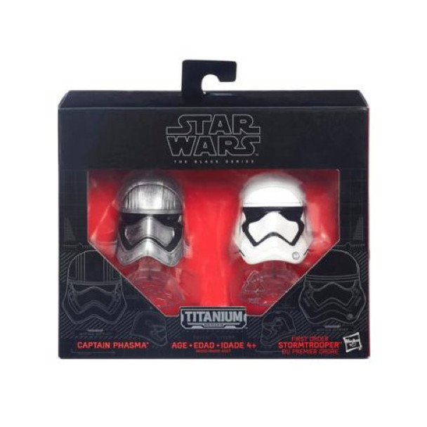 Star Wars Black Series Captain Phasma & First Order Stormtrooper Helmets by Hasbro